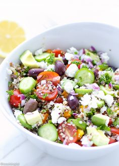 Mediterranean Style Rainbow Quinoa Salad Recipe on Yummly. @yummly #recipe