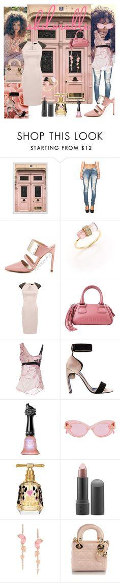 """""""Adorable Pink!!"""" by denibrad ❤ liked on Polyvore featuring Pottery Barn, Jacquie Aiche, Aloura London, Chanel, Pinko, Nicholas Kirkwood, Anna Sui, Juicy Couture, Bite and Stephen Webster"""
