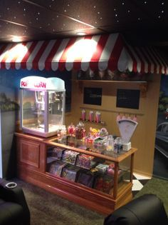 Custom Made Candy Counter For The 50s Style Drive In Theater Room A Basement
