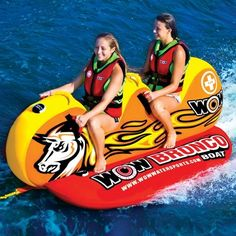 WOW World of Watersports Bronco Boat 2 Person Ski Tube - Double your fun in the pool or at the lake with this World of Watersports Bronco Boat 2 Person Ski Tube . The perfect ride for two people, it's. Sports Nautiques, Water Sports, Boat Tubes, Lake Toys, Water Tube, Water Ski, Wow World, Boat Accessories, Boat Stuff