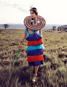 "Duchess Dior: ""African Vibration"" Renata Zandonadi for Vogue Japan May 2016 African Inspired Fashion, African Fashion, African Style, Vogue Editorial, Editorial Fashion, Fashion Magazine Cover, Vogue Japan, African Safari, Fashion Images"