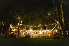 our receptions under the lights     Tyler & Tori – Old Bison Ranch Wedding | Rachel Whyte Photography