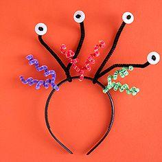 aliens crafts, alien crafts preschool, alien project kid, alien science kids, monster crafts, kids alien craft, alien headband, chenille stem crafts, kid crafts