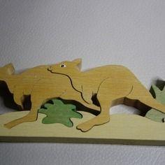 Puzzle en bois kangourou 5 pièces