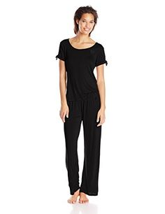 Betsey Johnson Women's Short Sleeve Rayon Knit Pajama Set, Raven Black, X-Small Betsey Johnson http://www.amazon.com/dp/B00TJTHIBC/ref=cm_sw_r_pi_dp_dhMRvb15TRQES