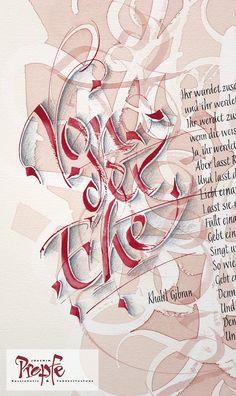 """Khalil Gibran """"Von der Ehe"""", gestaltet als Geschenk zur Hochzeit #Wedding…                                                                                                                                                                                 Mehr"""