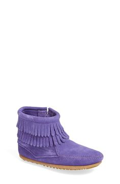 Minnetonka Double Fringe Moccasin (Baby & Walker) available at #Nordstrom