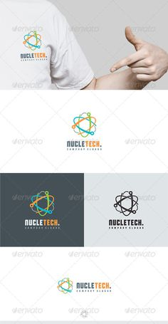 Nucletech Logo by Kapacyko Fully Editable Logo, AI, EPS, CDR, PNG files Used free font link in the zip folder Easy work and good luckDont forget to rate if