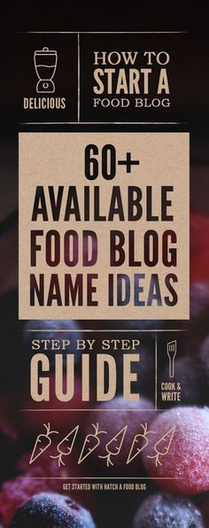 Available Food Blog Names