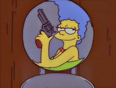 Oh Marge Homer: I'm sorry I lied to you, Marge. But this gun had a hold on me. I felt this incredible surge of power, like God must feel when He's holding a gun. The Simpsons, Simpsons Episodes, Cartoon Icons, Cartoon Memes, Cartoon Characters, Los Simsons, Cartoon Profile Pictures, Vintage Cartoon, Meme Faces