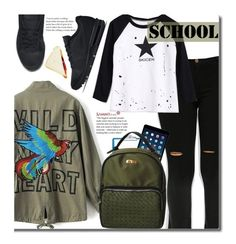"""""""School Style"""" by beebeely-look ❤ liked on Polyvore featuring NIKE, BackToSchool, nike, schoolstyle and sammydress"""