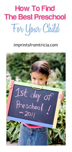 Imprints From Tricia : How To Find The Best Preschool For Your Child