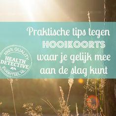Praktische tips tegen hooikoorts waar je gelijk mee aan de slag kunt -- evawitsel.nl Healing, Medical, Herbs, Tips, Color, Advice, Herb, Therapy, Medicine