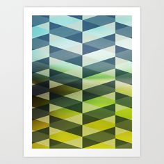Herring Greens And Blues Art Print by Sabine Doberer | Society6