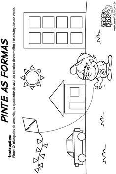 Atividade Matemática Formas Geométricas Pinte