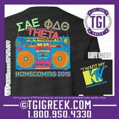 TGI Greek - Sigma Alpha Epsilon - Phi Delta Theta - Kappa Alpha Theta - Homecoming - Greek T-shirts  #tgigreek #sae #theta #phidelt #homecoming