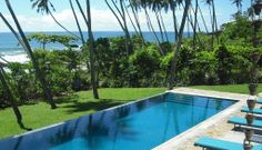 Enjoy the large infinity pool at Tangalle beach hotel Coco Tangalla, overlooking the Indian Ocean.  www.cocotangalla.com/pg/home  #TangalleHotels #TangalleGuestHouses #TangalleBeachHotel