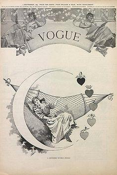 Vintage Vogue Covers, Sep 1893 #VintageVogueCoversKisyovaLazarinova