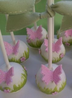 For Garden Party Themes, Ideas For Garden Party Themes, Ideas For Garden Party Themes, Butterflies Birthday Party cake pops! See more party planning ideas at ! Garden Party Theme, Garden Party Cakes, Butterfly Garden Party, Butterfly Birthday Party, Garden Birthday, Fairy Birthday, Garden Parties, Butterfly Wedding, Wedding Flowers