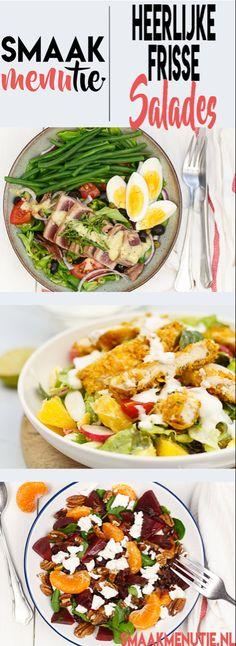 Salades #recepten #smaakmenutie #salades #salade #saladrecipes #maaltijdsalade Eco Friendly Cleaning Products, Eco Friendly Cars, Allrecipes, Cobb Salad, Low Carb, Menu, Lunch, Fresh, Food