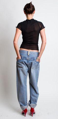cf20d8babd47 1980 s Replay Jeans - Vintage 80s Blue Jean Pants Replay 901 Oversized  Unisex Baggy Denim Men Trousers Size W 32