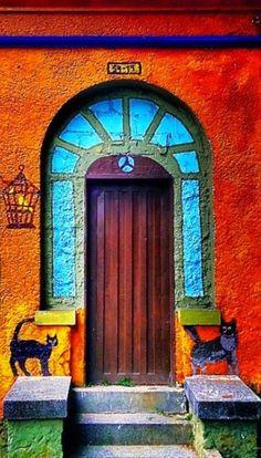 Mara L. originally shared this wall mural/Door #streetart #medellín #colombia in 'Street Art from the world - Community' on Google+♥★♥