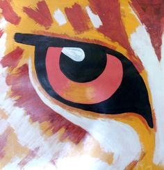 Panther eye acrylic painting