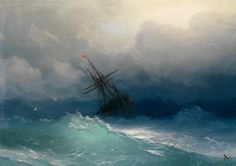 Artist Ivan Konstantinovich Aivazovsky created some truly spectacular paintings of seascapes that capture the beautiful, shimmering essence of the tumultuous waters.