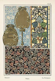 Eugene Grasset, Art Nouveau Pattern, Floral Illustrations, Antique Prints, French Art, Textures Patterns, Japanese Art, Handicraft, Decorative Items