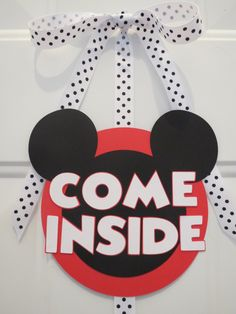Mickey+Mouse+Clubhouse+Door+SignCome+Inside+by+LittleDawgDesigns,+$15.00