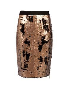 Zip Detail Sequin Skirt - Bronze | Suits | Ted Baker