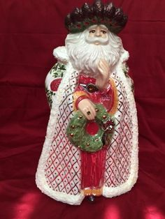 Old World Ceramic Santa Claus by SoozieQCrafts on Etsy