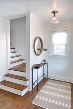 39 Inspiring Painted Stairs Ideas #paintedstairsideas Staircase design, Stairs design, Stairway decorating, Stair railing ideas, Stairs makeover, Modern staircase