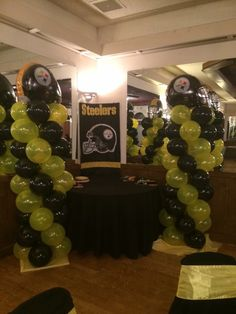 Pittsburgh steelers 6 rings table decor ideas google search steelers theme baby shower filmwisefo Gallery