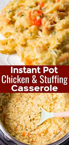 Instant Pot Chicken and Stuffing Casserole - This is Not Diet Food Instant Pot Chicken and Stuffing Casserole is an easy pressure cooker chicken recipe using boneless, skinless chicken breast, chopped veggies, cheddar cheese and stove top stuffing mix. Chicken Breast Instant Pot Recipes, Instant Pot Dinner Recipes, Healthy Chicken Recipes, Vegan Recipes Easy, Keto Chicken, Grilled Chicken, Baked Chicken, Chicken Stuffing Casserole, Stuffing Mix