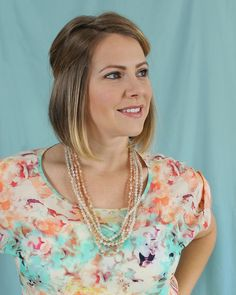 Peach Knotted Crystal Necklace - Seasons Jewelry - Retail