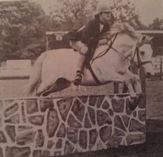 Cool Meadows Blue Mist & Kathleen Gowl in 1969 Hunter Jumper, Ponies, Mists, Equestrian, Band, Cool Stuff, Painting, Cool Things, Ribbon
