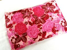 Microwaveable Heat Pack Cold Pack 11x8 Bright Pink by CamillaWall