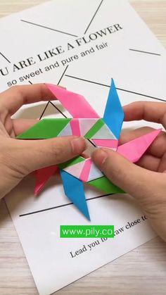 Origami Toys, Instruções Origami, Geometric Origami, Paper Towel Crafts, Cool Paper Crafts, Paper Crafts Origami, Diy Paper, Diy Crafts For Girls, Fun Diy Crafts