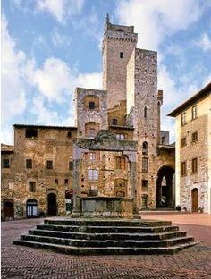 San Gimignano is and remains breathtaking.  Pictured, San Girmignano Square. San Gimignano, province of the Siena Tuscany region of Italy
