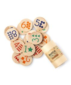 Another great find on #zulily! Numbers Match Stacks Game by Tree Hopper Toys #zulilyfinds