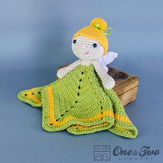 Ravelry: Fairy Security Blanket pattern by Carolina Guzman. I love this one.  :-)