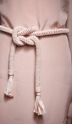 Khoon Hooi: Rope Cord Belt with Grosgrain Ribbon Tassels