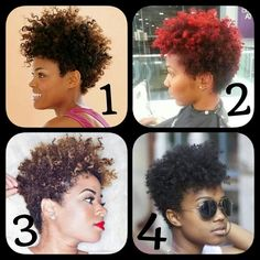 Dope tapered cut on natural hair