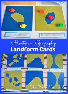 Montessori Landform Cards
