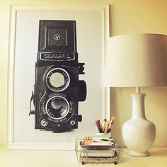 Free printable vintage camera poster