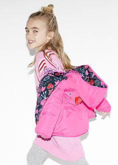 Kenzo Kids Girls reversible pink coat available @Childrensalon. #KenzoKids #Girl #Pink #Coat #Fall