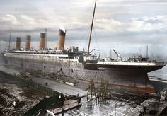 The Titantic. Pictures colorized by Anton Logvynenko