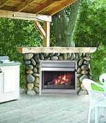 outdoor gas fireplace in deck railing | Outdoor Patio Fireplaces - Propane, Natural Gas