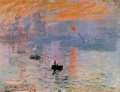 """""""C. #Monet, Impression, soleil levant, 1872,  Musée Marmottan Monet, Parigi"""" ~ Buonissima domenica a tutti con il sole nel cuore ♡"""
